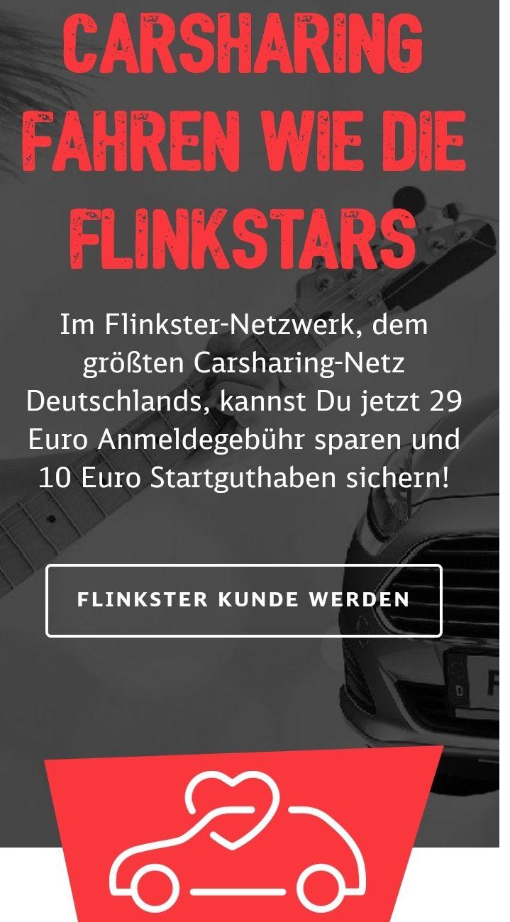 flinkster-Anmeldung (statt 29€) kostenlos + 10€ Start- & weitere 25€ Guthaben (auch für Bestandskunden!)