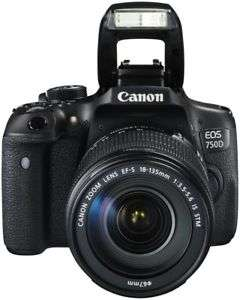 "[computeruniverse] Canon EOS 750D SLR-Digitalkamera (24MP, 3"" Display, APS-C CMOS-Sensor, WiFi, NFC) inkl. EF-S 18-135 mm IS STM Objektiv"
