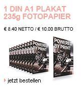 Din A1 Plakat für 10€ inkl. Versand von Flyeralarm