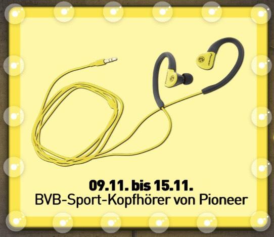 [BVB Shop] 5€-Wochen. Heute: BVB-Sport-Kopfhörer von Pioneer