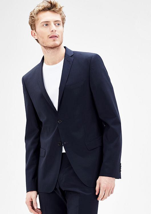 s.Oliver Cosimo Flex Slim Fit Schurwoll-Anzug in Blau oder Schwarz in vielen Größen