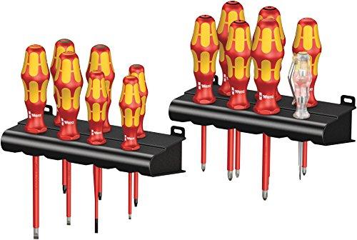 Wera Kraftform Big Pack 100 VDE Schraubendrehersatz, 14-tlg. (05105631001, Isoliert bis 1000V AC/ 1500V DC gemäß IEC 60900)