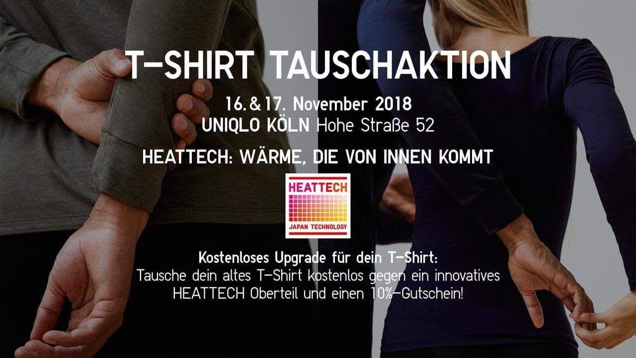 Uniqlo T-Shirt Tauschaktion/Köln