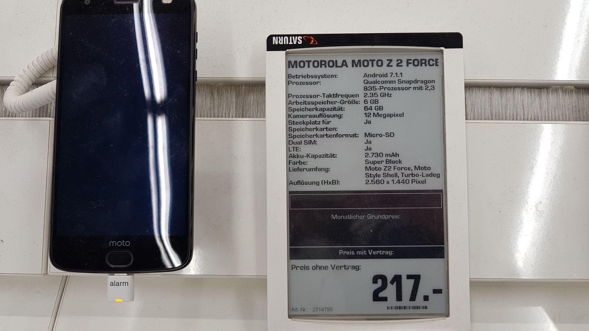 [Saturn] Motorola Moto Z2 Force (Lokal Karlsruhe?)