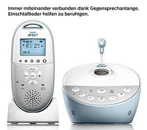Philips Avent SCD580/00 Audio-Babyphone mit DECT-Technologie, Smart Eco Mode, Sternenhimmel, Gegensprechfunktion [Amazon]