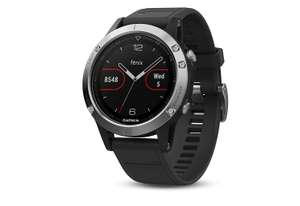 Garmin Fenix 5 Smartwatch Schwarz/Silber - GPS, Bluetooth, Outdoor