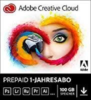 Amazon Adobe Creative Cloud 12 Monate volles Paket für 37,50 €/Monat