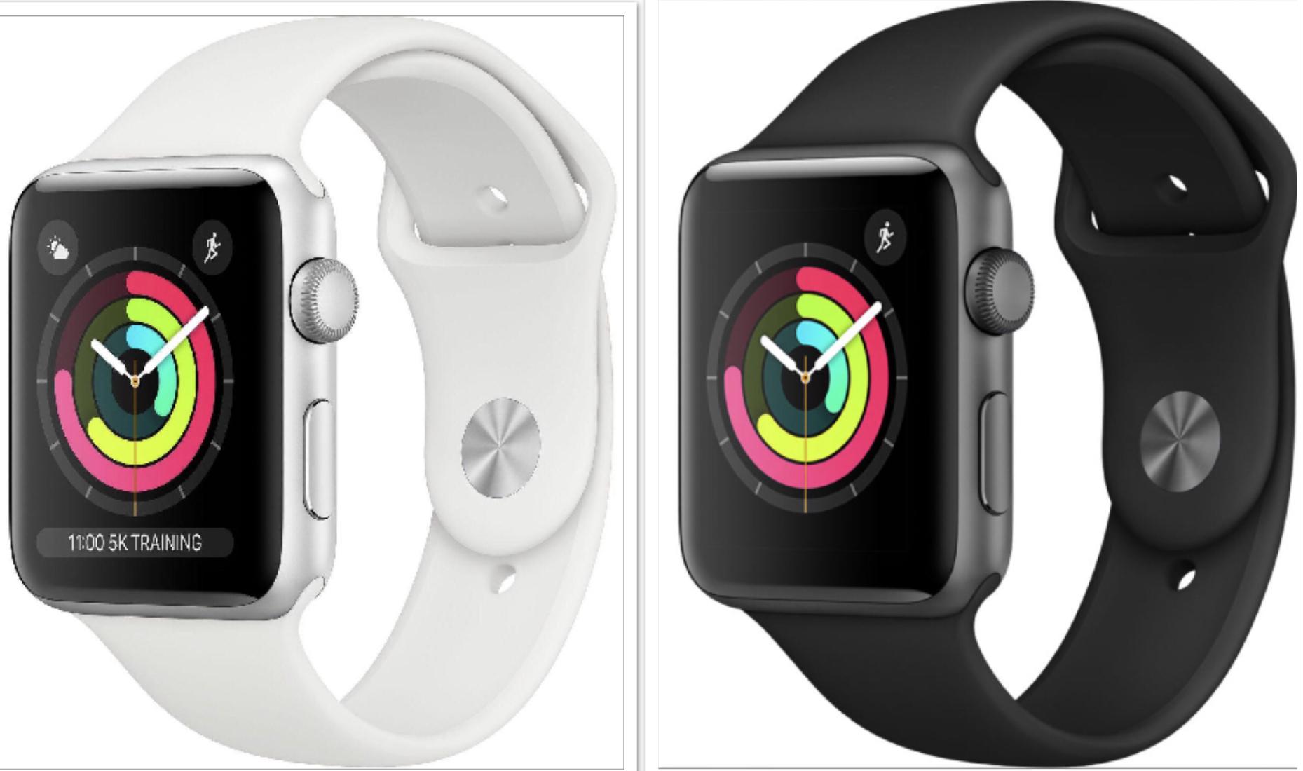 Apple Watch Series 3 GPS 38mm Aluminiumgehäuse Sportarmband silber für 244,90€ - spacegrau 38mm 254,90€ oder 42mm für 269,90€