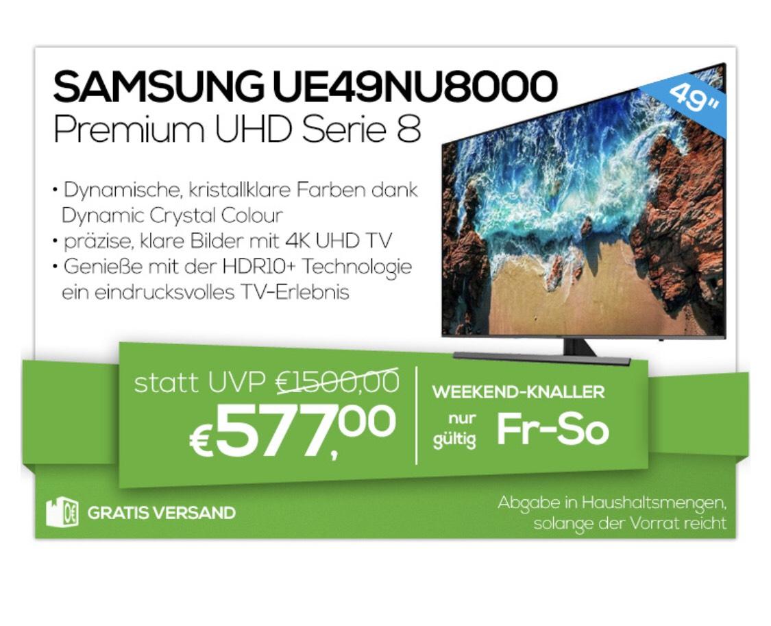 """Samsung UE49NU8000 UHD Flat TV, 49"""""""