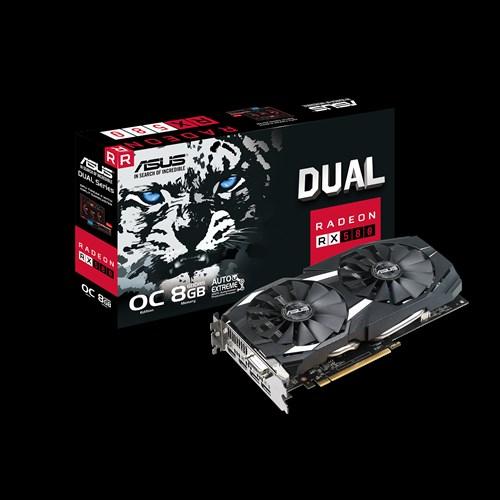 ASUS Dual Radeon RX 580 OC 8GB GDDR5 Grafikkarte - DVI/2x HDMI/2x DisplayPort