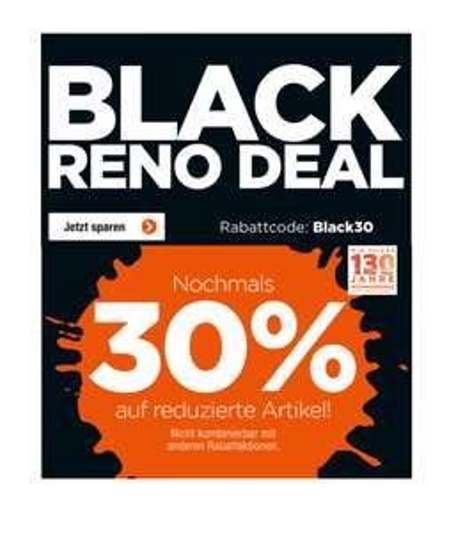Jetzt bei Reno: 30% Extra- Rabatt auf alle reduzierten Schuhe im Sale!