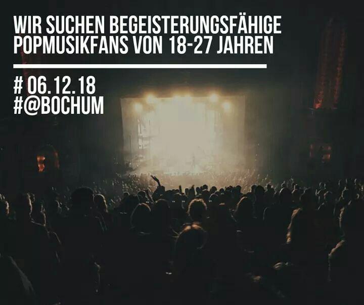 Bochum : 6.12. 2018  - Freikarten - plus 60 € Unkostenbeitrag