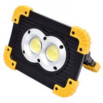 Wiederaufladbare Flutlichtlampe (40W, 4 Helligkeitsmodi, USB-Ein- und -Ausgang)