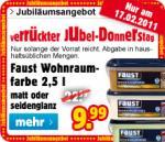 Faust Wohnraumfarbe 2,5l für 9,99 EUR offline bei Praktiker