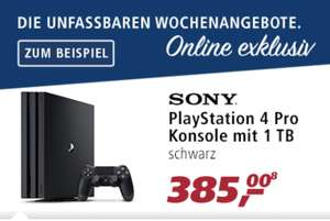 REAL  PS4 Pro 1TB schwarz 385€ (mit Payback eff. 356,20€)