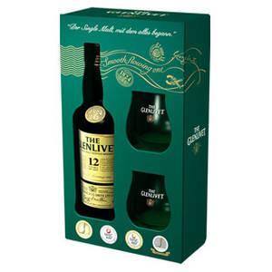real,-- ON- und OFFLINE | The Glenlivet 12 Jahre - Single Malt Scotch Whisky | 0,7 l-Flasche (Offline: mit 2 original The Glenlivet Gläsern in Geschenkverpackung)