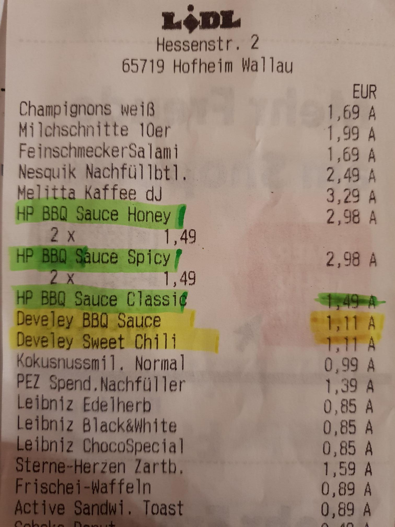 [Lidl] HP BBQ Sauces für nur 1,99 Euro