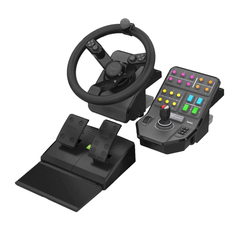[Amazon.uk] Logitech G Saitek Farm Sim Lenkrad, Pedale und Seitenkonsole (für PC, Mac OS)
