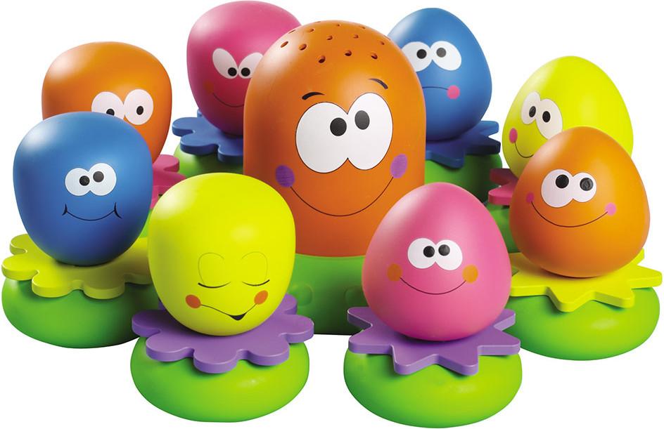 """TOMY Wasserspiel für Kinder """"Okto Plantschis"""" mehrfarbig - hochwertiges Kleinkindspielzeug für die Badewanne für 9,99€ mit Prime"""