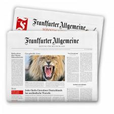 24 mal die FAZ / FAS + 20 € Gutschein für Kaufhof für 24€