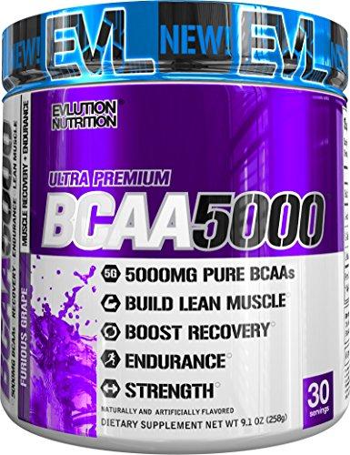 Evlution Nutrition BCAA 5000 | Pulverartiges Ergänzungsmittel Mit 5 Gramm Premium BCAA | 30 Portionen | Furious Grape (Furious Grape)