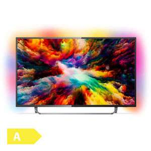 "PHILIPS PUS7373/12 - 50"" 4KSmart TV (VA, Direct LED, 60 Hz, 3-seitiges Ambilight, 8bit+FRC, 350cd/m2, Android TV 8, Alexa, Google Assistant)"