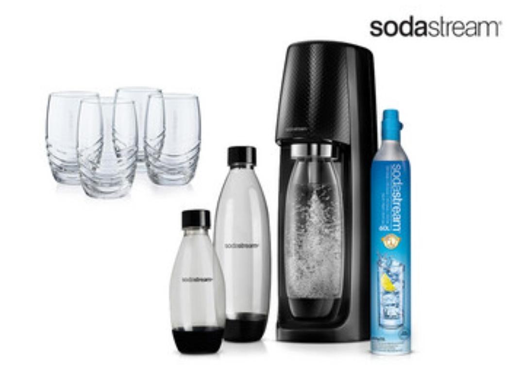 Trinkwassersprudler SodaStream Spirit - Soda maker Megapack inkl. 4 Gläser