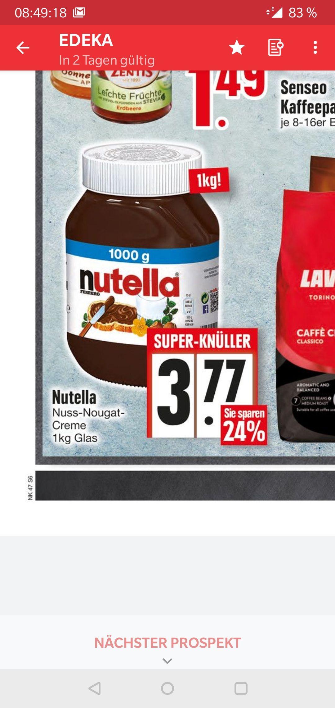 Nutella 1kg Glas