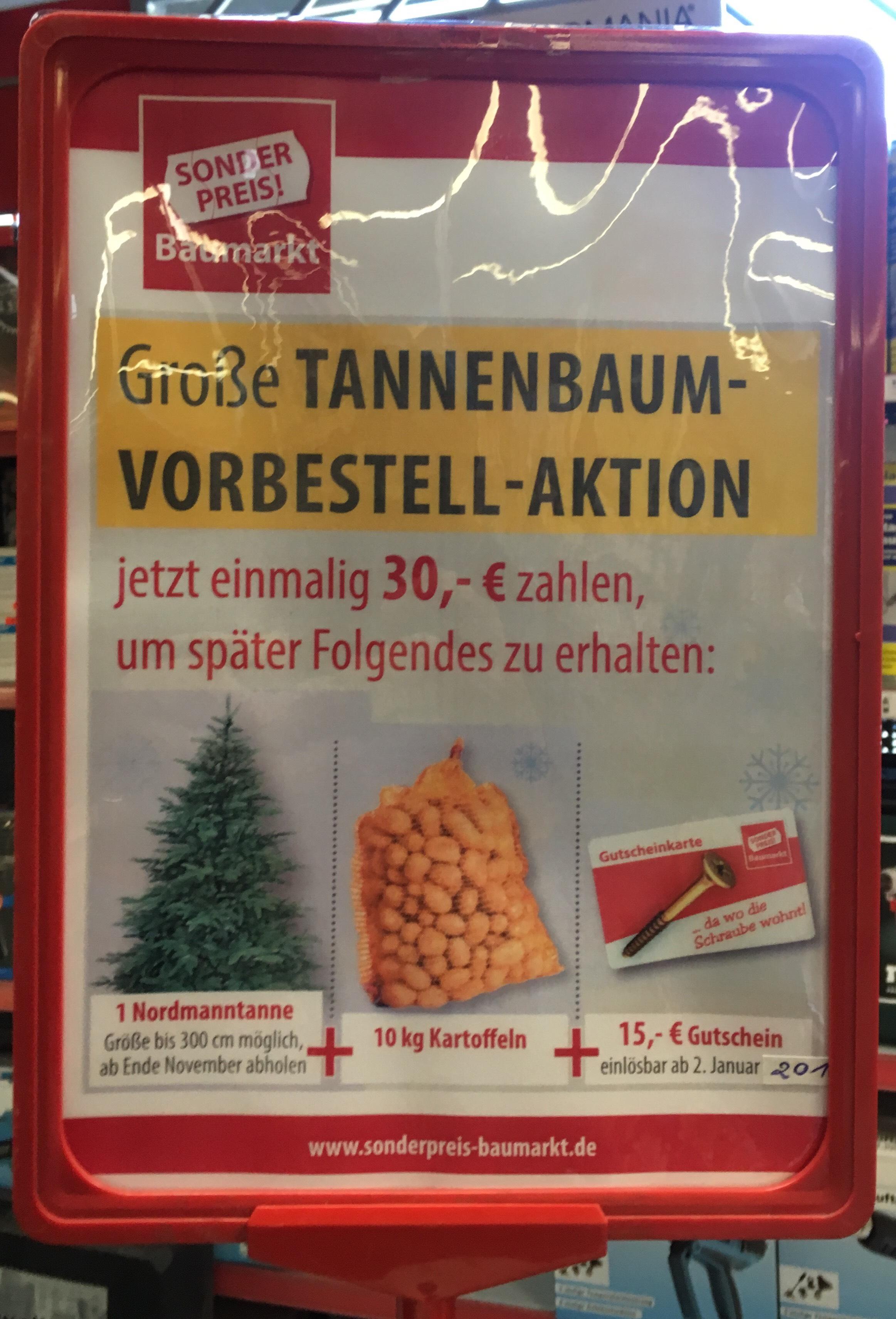 [lokal u.a Oberhausen ] Nordmann Tanne | Tannenbaum für rechnerisch 8€ (bis zu 3m)