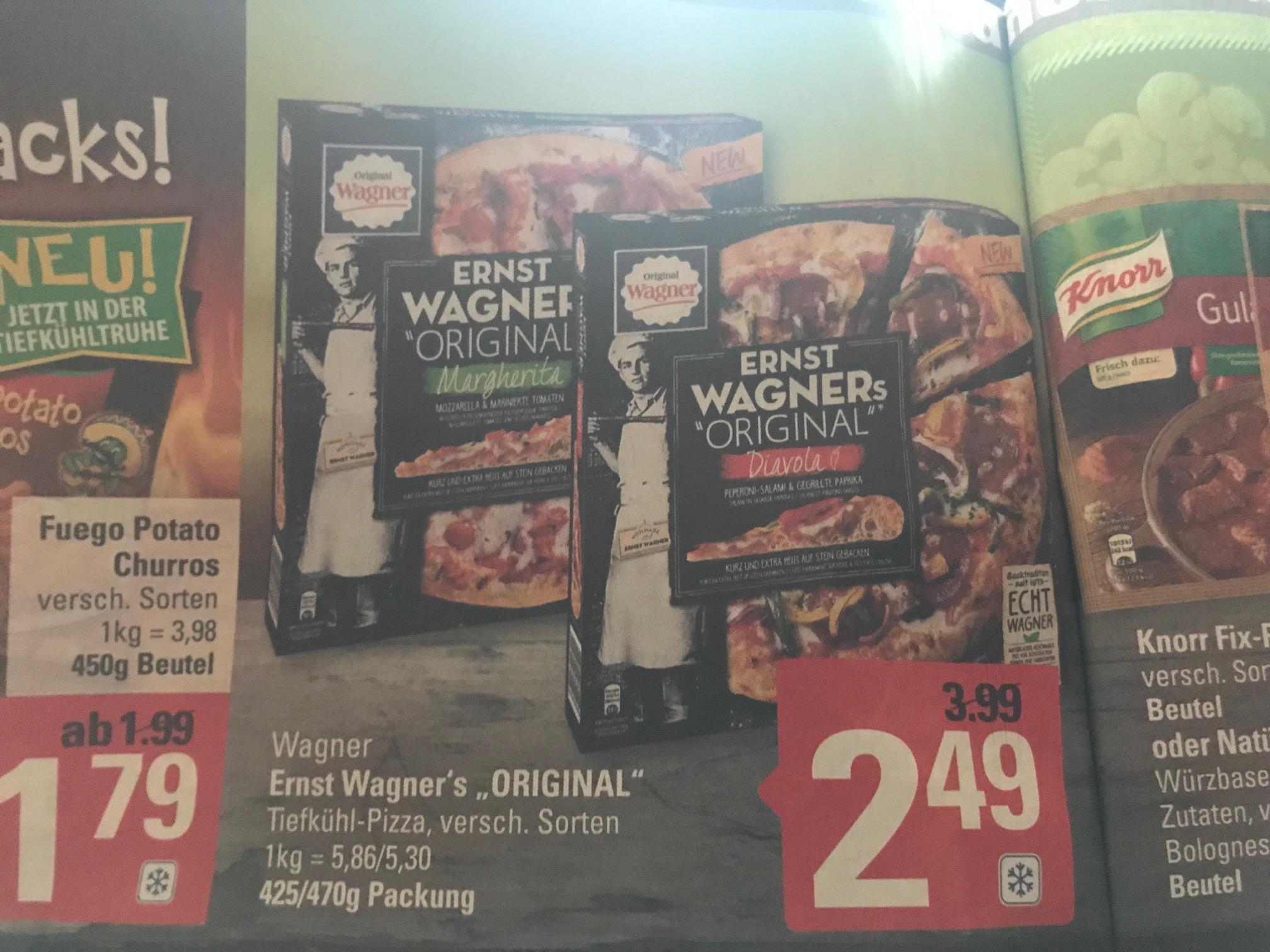 """ERNST WAGNER´s """"ORIGINAL"""" Pizza für nur 2,49 Euro beim Marktkauf (mit 10% Kleberabatt sogar nur 2,24 Euro)"""