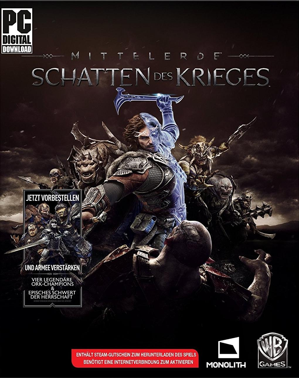 Mittelerde: Schatten des Krieges (Steam) für 8,24€[cdkeys]