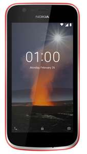 "Smartphone Nokia 1 Dual-SIM Rot 4,5"" IPS Display Android 8.1 für 69€ [Real]"