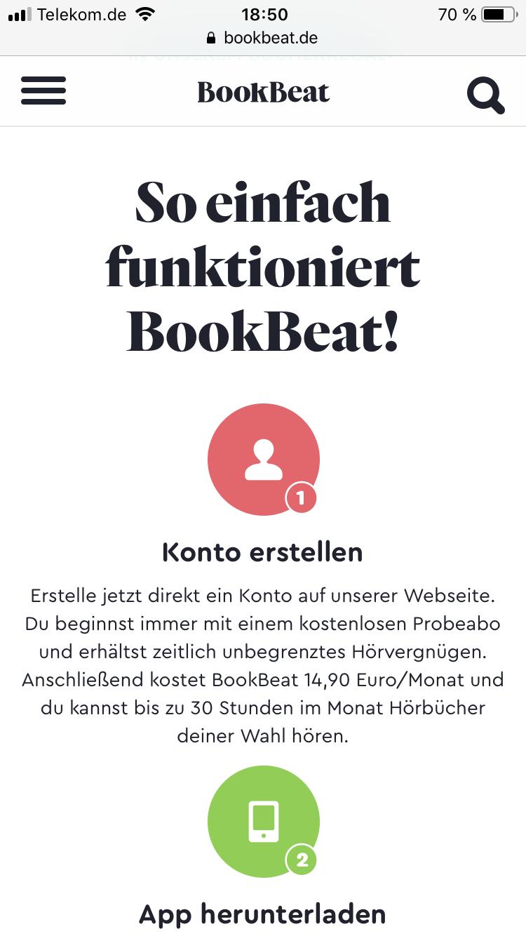BookBeat *30 Tage* kostenlos testen