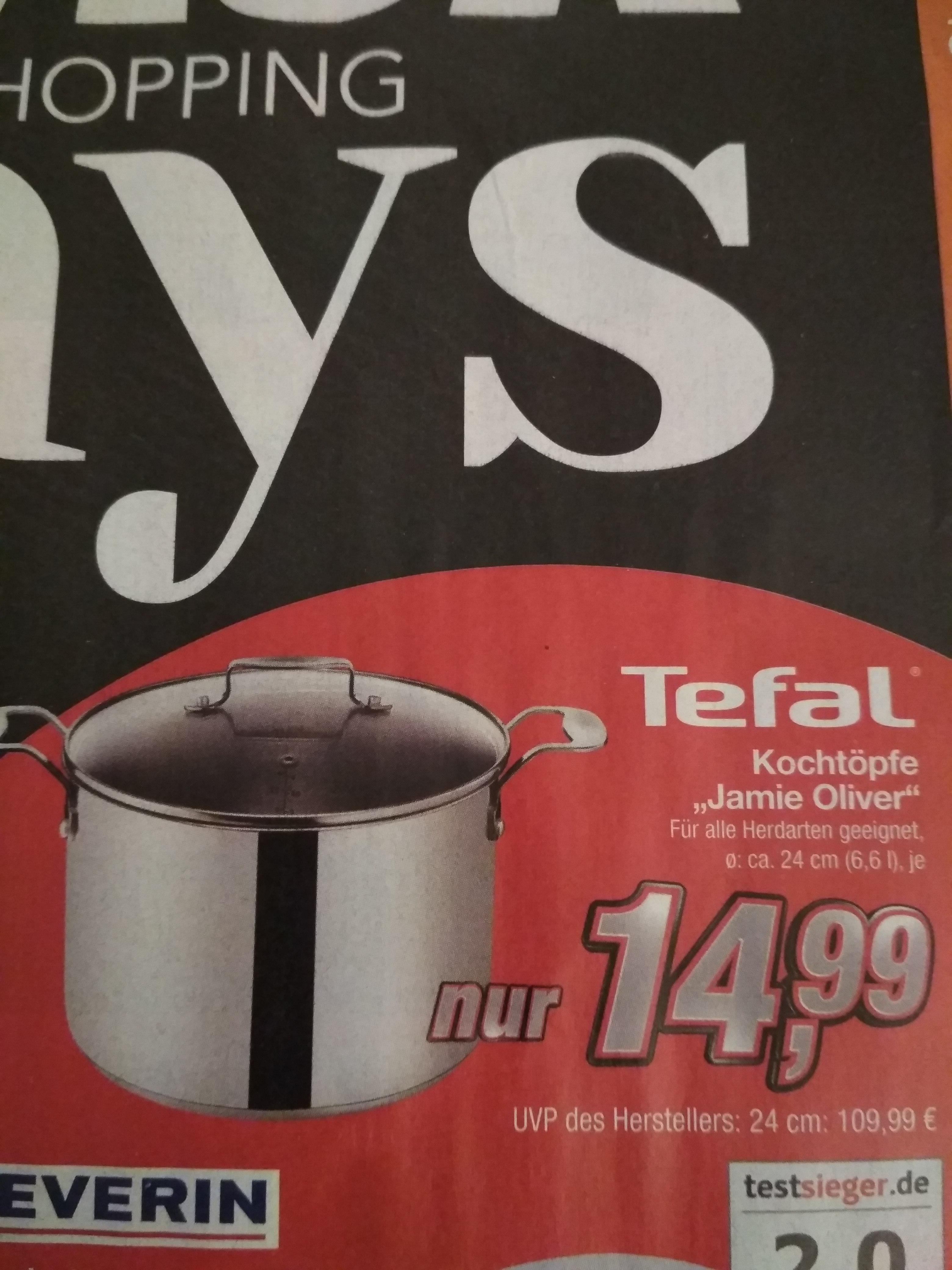kik (bundesweit?)  Tefal Jamie Oliver Kochtopf 6,6 Liter, alle Herdarten,  für 14,99€
