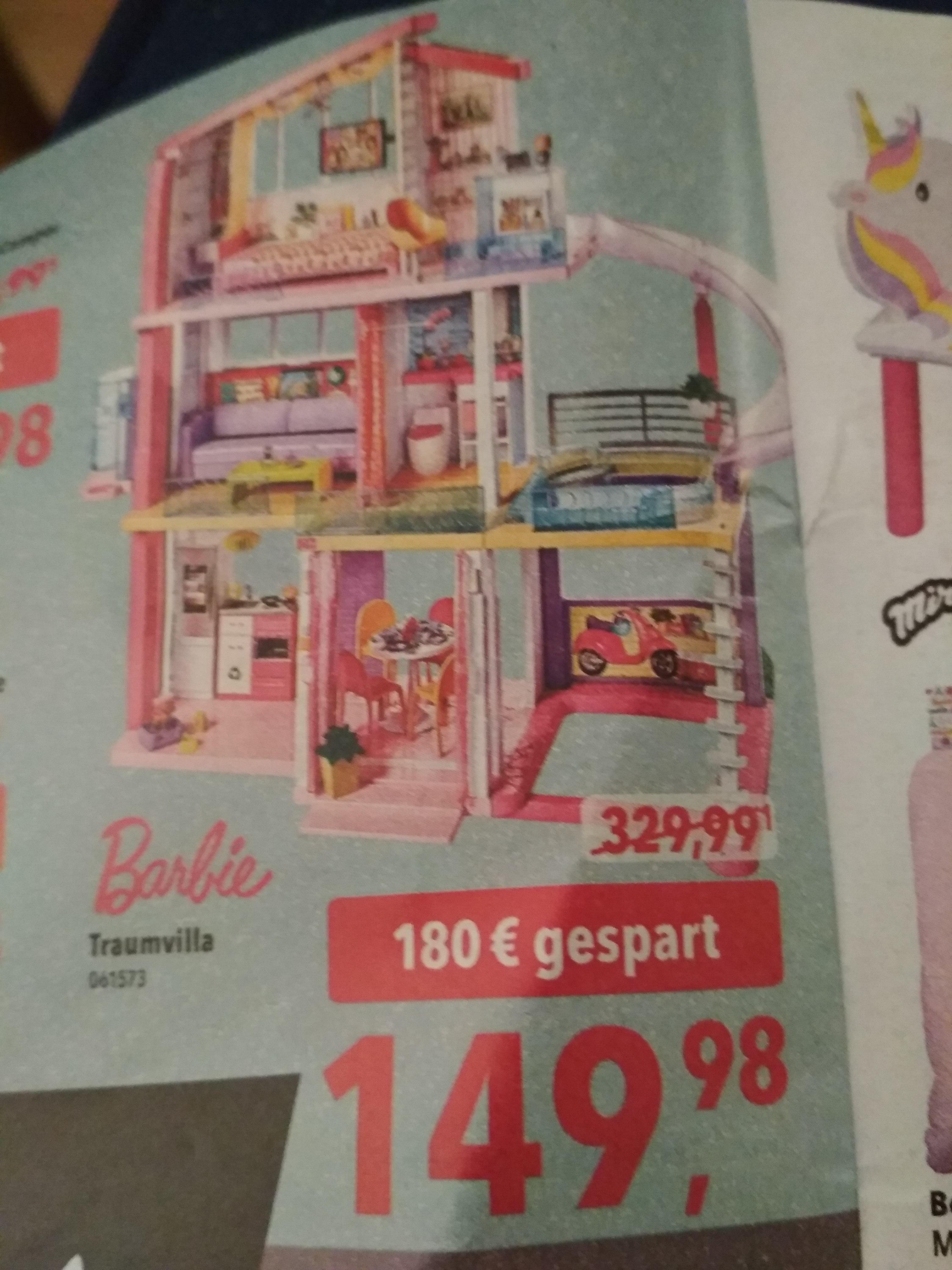 Toysrus Barbie Traumvilla (FHY73)  für 149,98€
