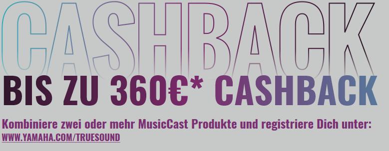 2x Yamaha MusicCast 20 (durch Cashback zum Stückpreis von: 168,58)