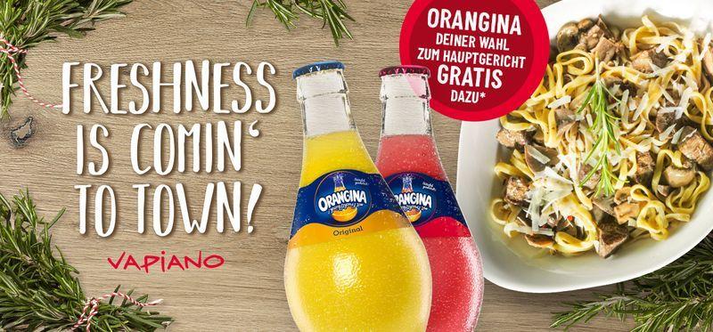 Vapiano - GRATIS Orangina zu jedem Hauptgericht