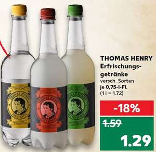 [Kaufland] THOMAS HENRY Tonic Water, Spicy Ginger & Bitter Lemon - ab 22.11.
