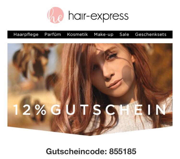 12% Rabatt bei hair-express [MBW: 29,95 EUR]