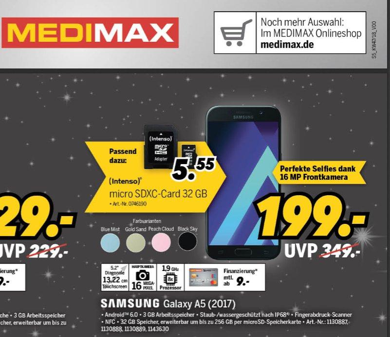 [MediMax] Samsung Galaxy A5 (2017) 32gb 3gb Ram 199€  [5.99 VSK]
