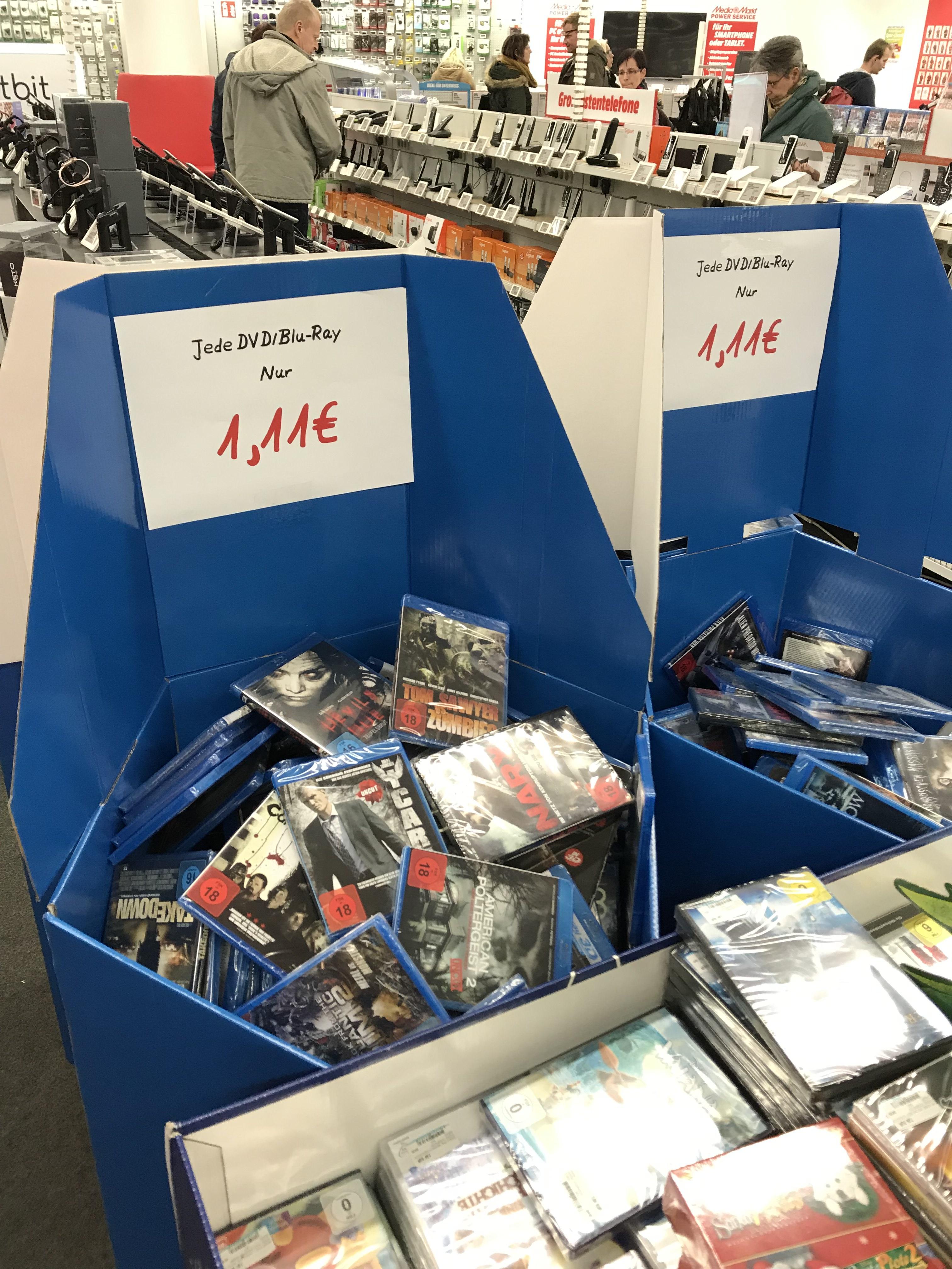 Jede Blu-Ray / DVD 1,11€ Lokal Berlin Hohenschönhausen Media Markt