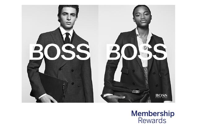 Bis zu 4 x 1000 extra Membership Rewards-Punkte für 100€ Umsatz bei Boss (Amex)