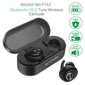 Blitzwolf® BW-FYE2 True Wireless Bluetooth 5.0 Headphone Hi-Fi Stereo Sound IPX 5 Wasserdicht