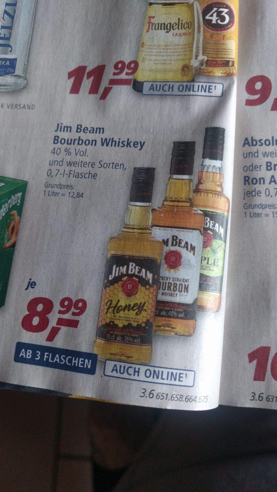 [Real] Jim beam whiskey 3 ver. Sorten für je 8.99€ab 3 flaschen