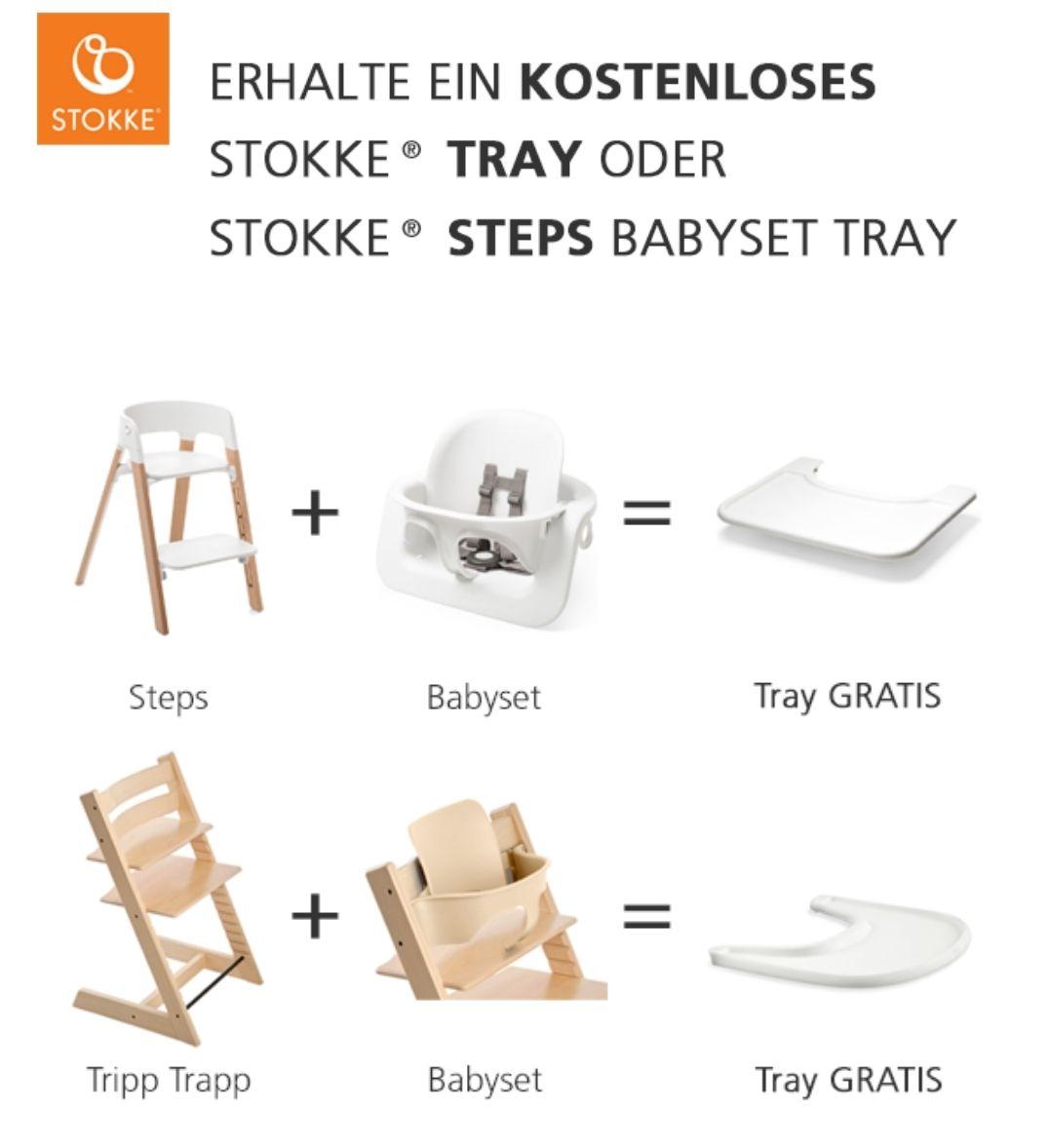 Skandic - Stokke Tripp Trapp und Babyset kaufen + einen Tray gratis dazu