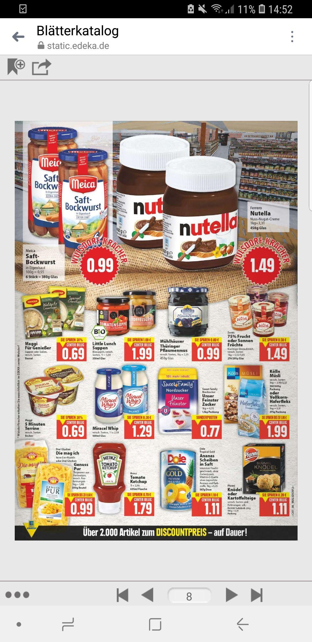 [Lokal Bremerhaven] 450g Nutella für 1,49 Euro