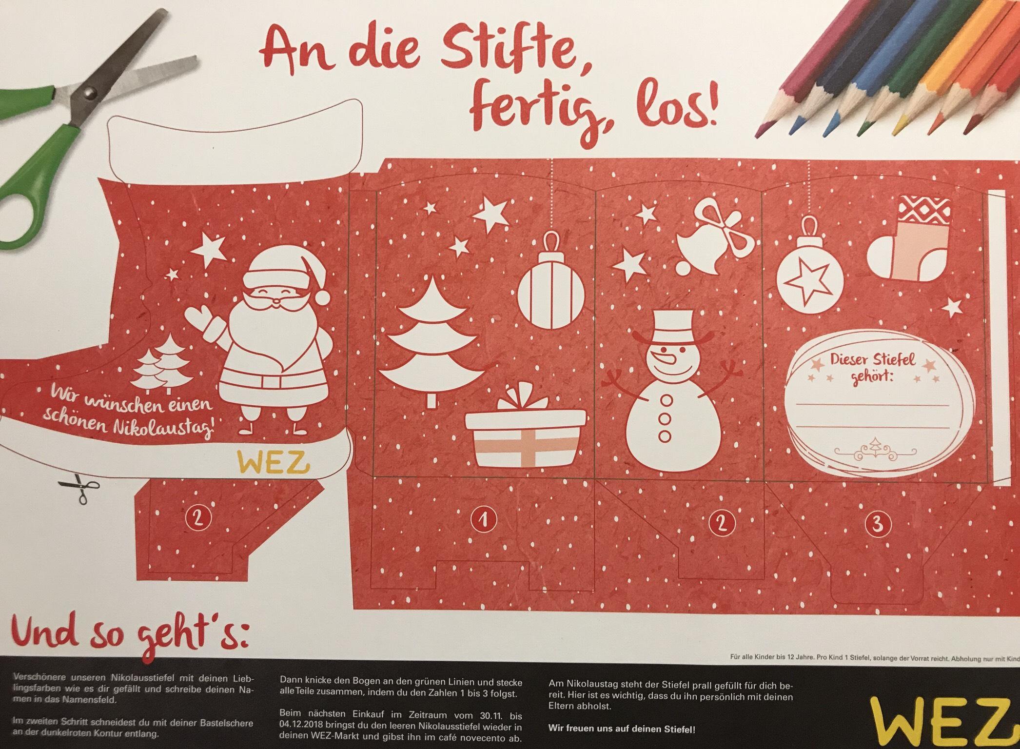 [lokal Minden] gratis Nikolausstiefel & Kekse backen