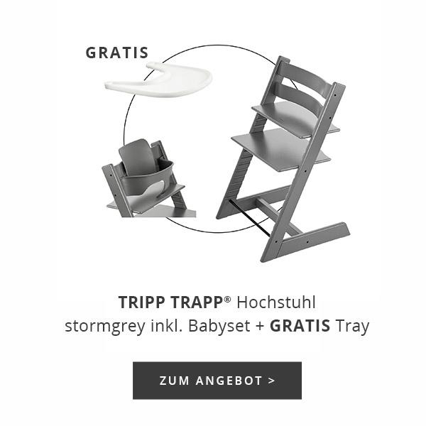STOKKE TRIPP TRAPP Treppenhochstuhl und Babyset incl. Tray gratis