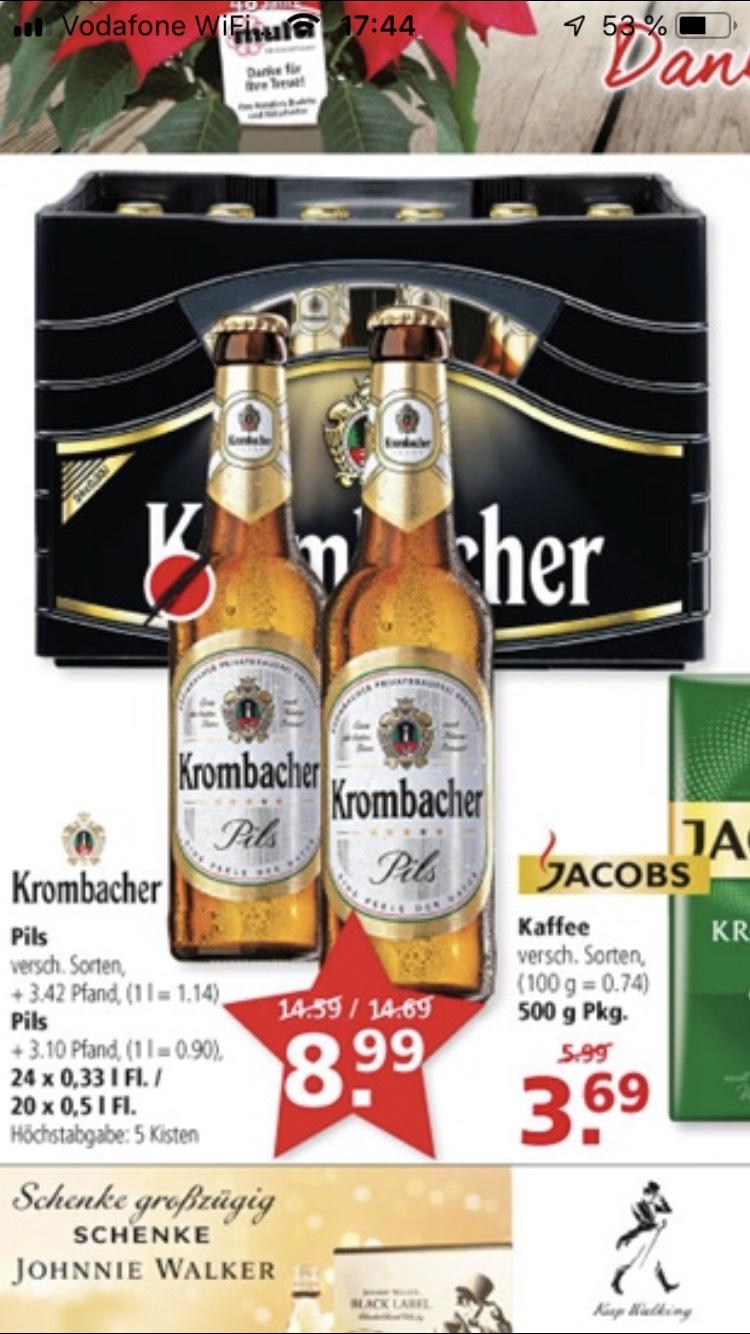 [Lokal Leer/Emden] Kiste Krombacher für 8,99 € (auch 20x0,5l)
