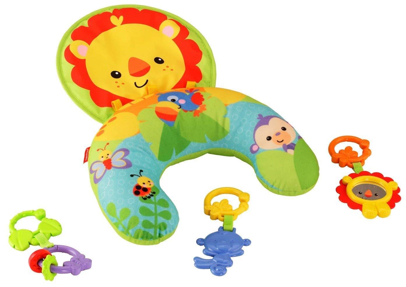 [Amazon.es] Fisher-Price Spielkissen, mit abnehmbarem Spielzeug, Babyerstausstattung, ab 0 Monaten